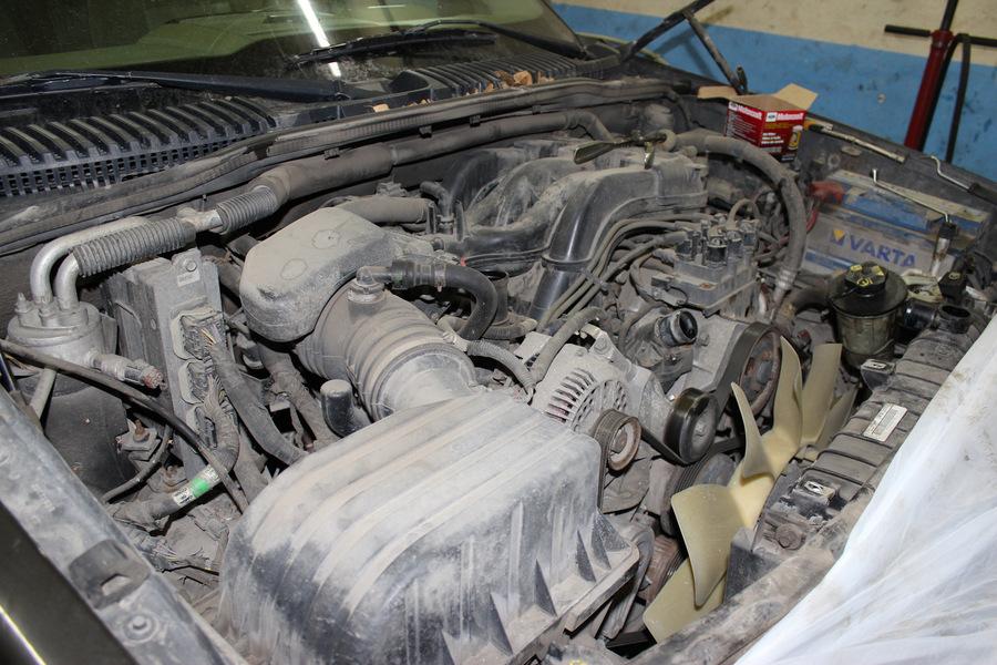 Подготовка к снятию ДВС Форд Эксплорер 4.0 SOHC