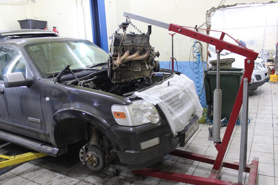 Снятие двигателя Форд Эксплорер 4.0 SOHC